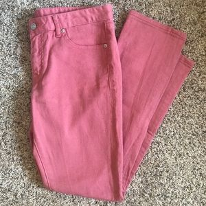 (5/$10) Uniqlo Pink Ankle Crop Jeans